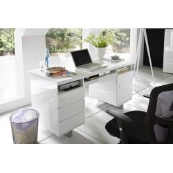 Psací stůl SYDNEY I (Bílá lesk)