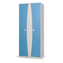 Šatní skříň Tenus TSZ2D (Modrá)