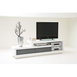 Televizní stolek Celia (Bílá + Šedá)