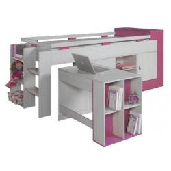 Dětská patrová postel s psacím stolem KOMI KM16