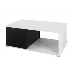 Konferenční stolek Gordia (Bílá + Černá Lesk)