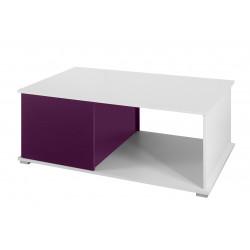 Konferenční stolek Gordia (Bílá + Fialová Lesk)