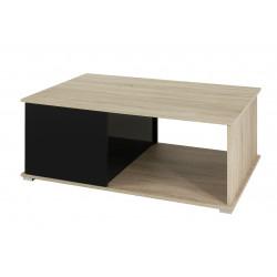 Konferenční stolek Gordia (Dub Sonoma + Černá Lesk)
