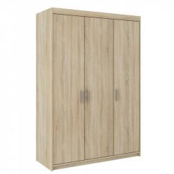 Šatní skříň ELENA 3D /130/ (Bílá)