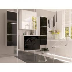 Koupelna PORTO (Černá Lesk + Bílá)