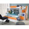 Patrová postel SEGAN (Oranžová)