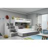 Patrová postel MAX 3 s přistýlkou včetně matrací (Šedá)