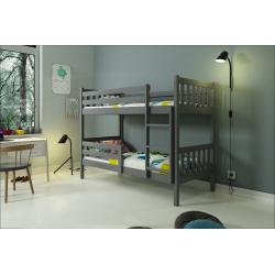 Patrová postel CARINO včetně matrací (Šedá)