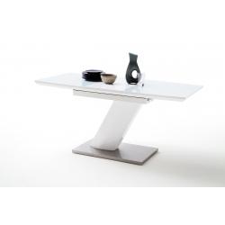 Rozkládací jídelní stůl GALINA /120/ (Bílá)