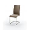 Rozměry:Šířka: 43cmVýška: 103 cmHloubka: 52 cm Barva: cappuccino Materiál: ekokůže + nerezová ocel Židle je možno zakoupit pouze po 2 kusech! Počet objednaných židlí musí být sudé číslo.Uvedená cena je za 1 kus.