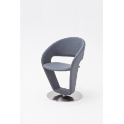 Otočná jídelní židle FIRONA (Šedomodrá)
