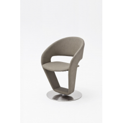 Otočná jídelní židle FIRONA (Šedohnědá)