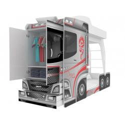 Multifunkční patrová postel MEGA TRUCK (kamion) včetně matrací