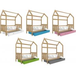 Dětská postel DOMEČEK s úložným prostorem (Borovice)