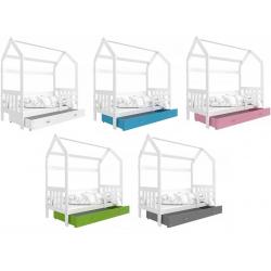 Dětská postel DOMEČEK s úložným prostorem (Bílá)