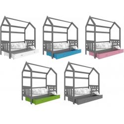 Dětská postel DOMEČEK s úložným prostorem (Grafit)
