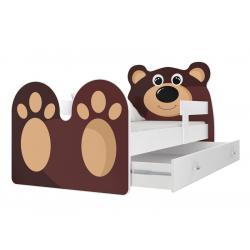 Dětská postel MEDVĚD včetně úložného prostoru