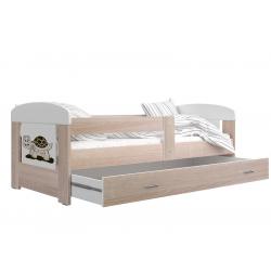 Dětská postel FILIP včetně úložného prostoru (Dub sonoma)