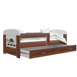 Dětská postel FILIP včetně úložného prostoru (Dub havana)