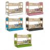 Dětská postel MATOUŠ včetně úložného prostoru (Borovice)