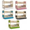 Patrová postel MATOUŠ pro 3 osoby s přistýlkou (Borovice)