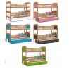 Patrová postel MATOUŠ pro 3 osoby s přistýlkou (Olše)