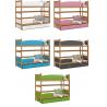 Patrová postel TWIST včetně úložného prostoru (Olše)