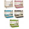 Patrová postel TWIST pro 3 osoby s přistýlkou (Borovice)