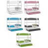 Patrová postel TWIST pro 3 osoby s úložným prostorem (Bílá)