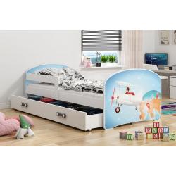 Dětská postel s úložným prostorem s motivem LETADLA