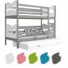 Patrová postel MAXIM pro 3 osoby s přistýlkou (Šedá)
