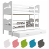 Patrová postel MAXIM pro 3 osoby s přistýlkou (Bílá)