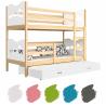 Patrová postel MAXIM pro 3 osoby s přistýlkou (Borovice)