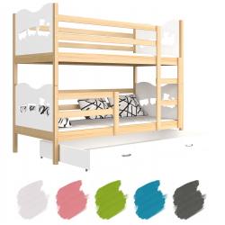 Patrová postel MAXIM s úložným prostorem (Borovice)