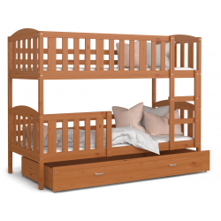 Patrová postel JAKUB včetně úložného prostoru (Olše)