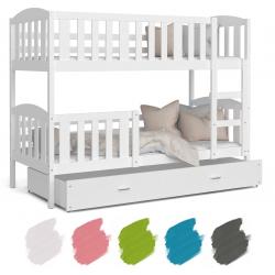 Patrová postel JAKUB včetně úložného prostoru (Bílá)