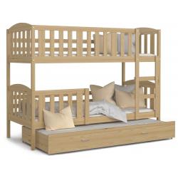 Patrová postel JACEK včetně úložného prostoru (Borovice)