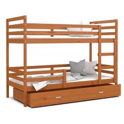 Patrová postel JACEK včetně úložného prostoru (Olše)