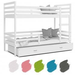 Patrová postel JACEK včetně úložného prostoru (Bílá)