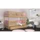 Patrová postel TAMY s různými motivy včetně úložného prostoru (Borovice)
