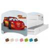Dětská postel LUCKY s motivem Bleska McQueena (Cars/Auta)