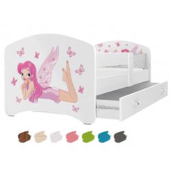 Dětská postel LUCKY s motivem VÍLA včetně úložného prostoru