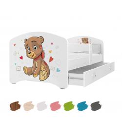 Dětská postel LUCKY s motivem MEDVÍDEK včetně úložného prostoru