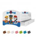 Dětská postel LUCKY s motivem PEJSCI (Tlapková patrola) včetně úložného prostoru