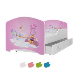 Dětská postel IGOR s motivem KOUZELNÁ VÍLA včetně úložného prostoru