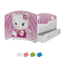 Dětská postel IGOR s motivem HELLO KITTY včetně úložného prostoru