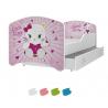 Dětská postel IGOR s motivem LITTLE KITTY včetně úložného prostoru
