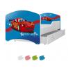 Dětská postel IGOR s motivem RACE CAR včetně úložného prostoru