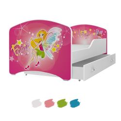 Dětská postel IGOR s motivem ČAROVNÁ VÍLA včetně úložného prostoru
