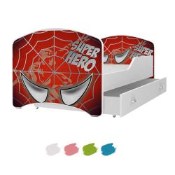 Dětská postel IGOR s motivem SPIDER MAN včetně úložného prostoru